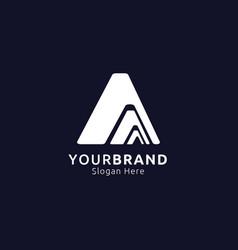 Initial letter a logo mountain design concept vector