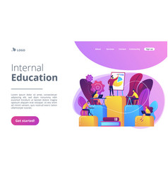 internal education concept landing page vector image