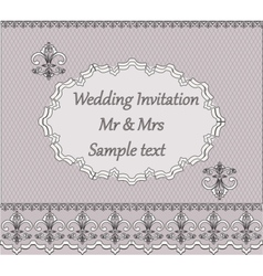 Invitation card with classic vintage ornaments vector