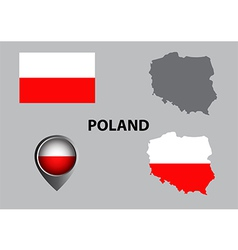 Map of Poland and symbol vector image