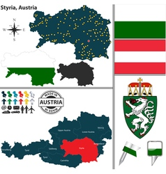 Map styria vector