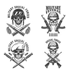 Military veteran special forces crossed assault vector