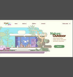 Mobile and desktop website template and interface vector