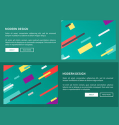 Modern design web pages on vector