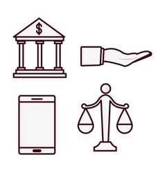 Money related icons vector