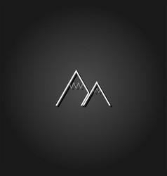 mountain icon flat vector image