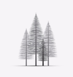 natural background with silhouette of a trees vector image