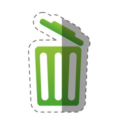 open trash can environment design vector image