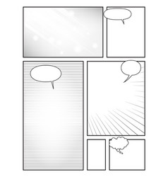 Page template to create comics with effects and vector