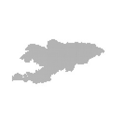 Pixel map of kyrgyzstan dotted map of kyrgyzstan vector