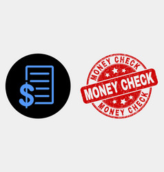 price list icon and grunge money check vector image