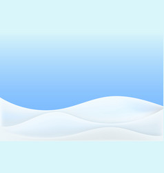 Realistic snowdrift isolated with snow hills vector
