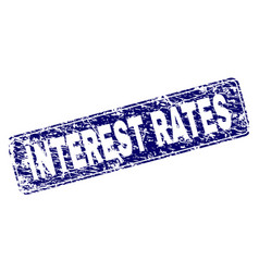 Scratched interest rates framed rounded rectangle vector