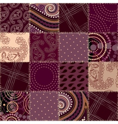 Seamless background patchwork vector