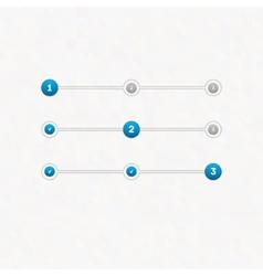set step progress bar vector image