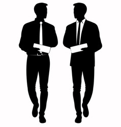 silhouette of business man in tie vector image