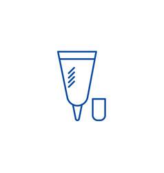 small cream tube line icon concept small cream vector image