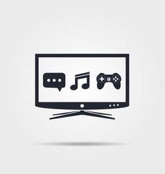 Smart tv icon vector