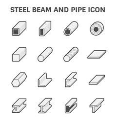 Steel beam icon vector