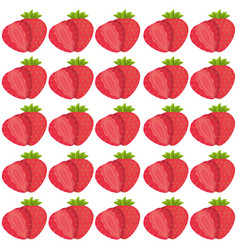 strawberry seamless pattern design vector image
