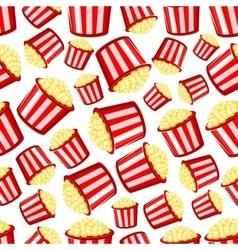 takeaway buckets popcorn seamless pattern vector image