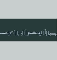 Vancouver single line skyline vector