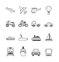vehicle icons vector image
