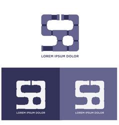 water pipe company logo vector image