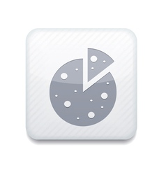 White pizza icon Eps10 Easy to edit vector