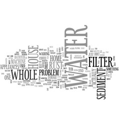 whole house water filter text word cloud concept vector image
