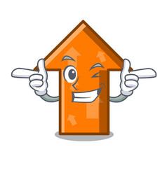 wink arrow character cartoon style vector image