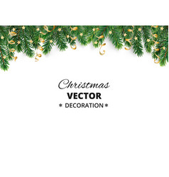 winter holiday background border with christmas vector image