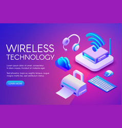 wireless devices technology vector image