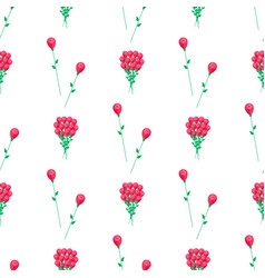 wrapping paper design with red flowers vector image