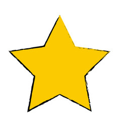 Yellow star award winner favorite icon vector