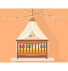 Baby room with bed vector