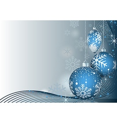 Blue Christmas Greeting vector image