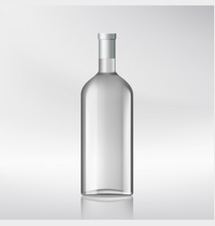 bottle with alcohol vector image vector image
