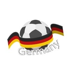 German football team icon cartoon style vector image vector image