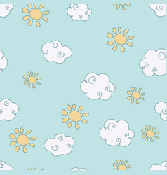 pattern with clouds pattern with clouds vector image vector image