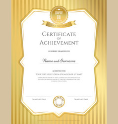 portrait certificate of achievement templat vector image vector image