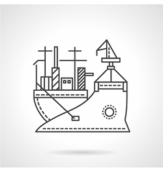 Transport vessel line icon vector image