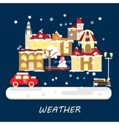 Winter weather banner vector image