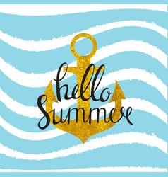 abstract design summer bakground with anchor and vector image vector image