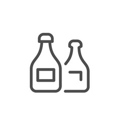 bottles line icon vector image
