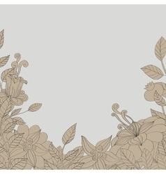 card flower leaves vector image vector image