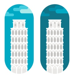 Flat design Pisa tower vector image vector image