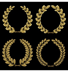 Gold laurel vector