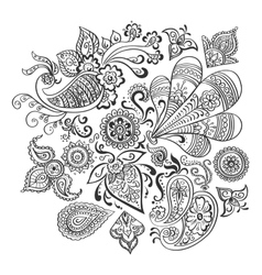 Indian floral ornament vector image