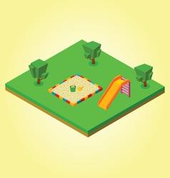 Isometric sandbox vector image vector image
